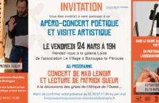 Invitation : Lectures et kora, le 24/03/2017, à Bazouges La Pérouse (35)