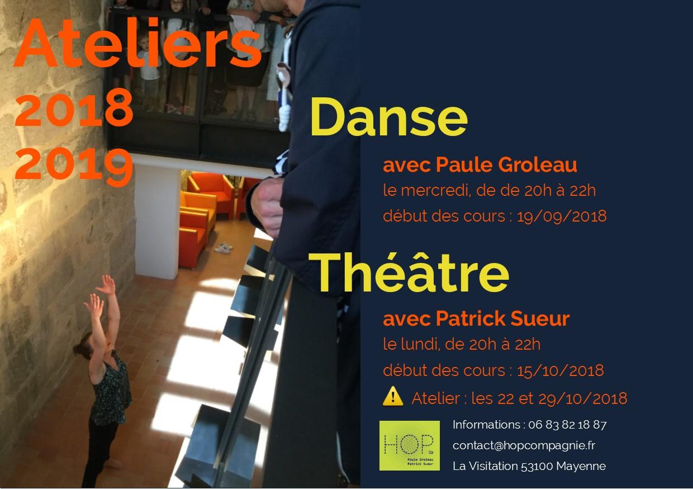 Ateliers – Théâtre – Danse – 2018/2019