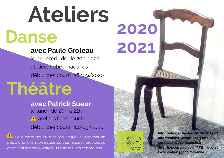 Ateliers – Théâtre – Danse – 2020/2021 – Mayenne
